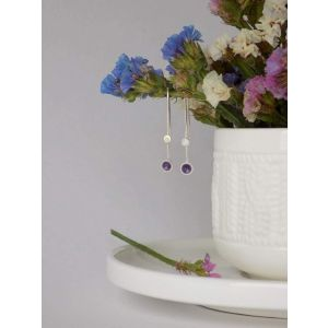 "Dangle earrings ""Lilac spring"""