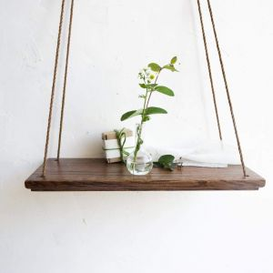 "Dark hanging swing shelf ""Green silence"""