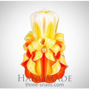 "Decorated candles ""Orange"""