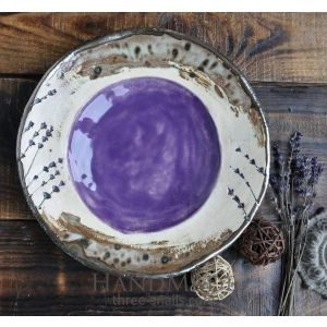 "Decorative ceramic bowl ""Iris"""