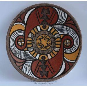 "Decorative ceramic plate ""Cave painting"""
