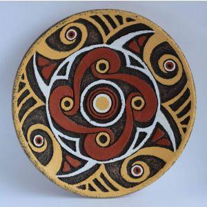 "Decorative ceramic plate ""Trypillian flower"""
