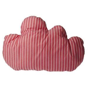 """Decorative pillows for bed """"White striped cloud"""""""