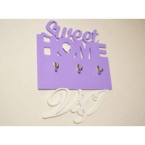 """Decorative wall hooks """"Violet harmony"""""""