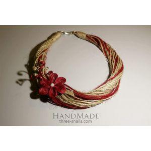 "Designers Brooch Necklace ""Cherry Flower"""