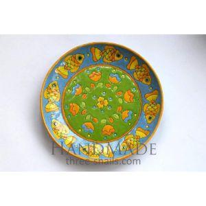 """Designer's ceramic plate """"Goldfish"""""""