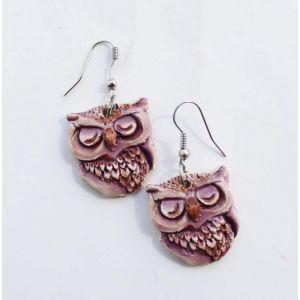 """Diy earrings """"Owl"""""""