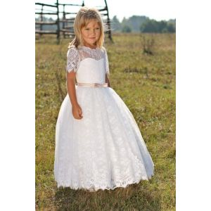 "Dresses for kid girl ""Delicate lace"""