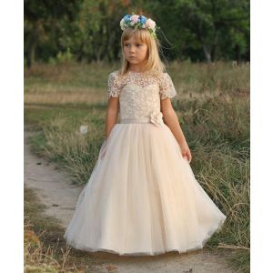 "Dresses for kids ""Creamy legance"""