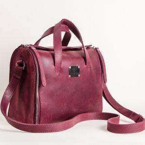 All leather organizer bag