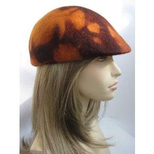 """Duckbill flat cap """"Amber autumn"""""""