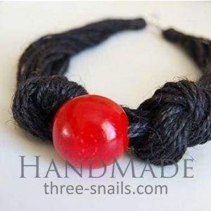 "Eco Fashion Necklace ""Black Cherry"""