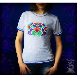 Embroided Woman T-shirt «Birds»