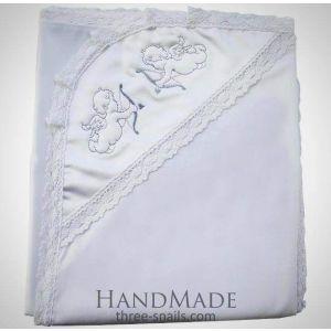 Embroidered blanket for christening