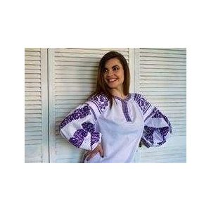 """Embroidered blouse """"Lilac"""""""