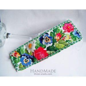 """Embroidered bracelet """"Flower mood"""""""