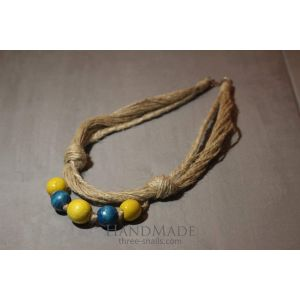 """Fashion Jute Wooden Necklace """"Two Colors"""""""