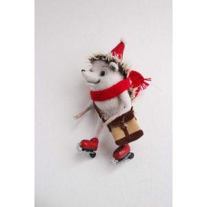 "Felt animal""Hedgehog & Skates"""