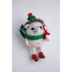 "Felted wool animals ""Hedgehog & Rabbit"""