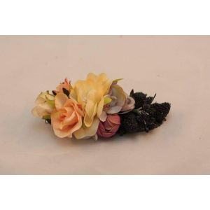 Flower accessories for hair. Barrette «Summer»