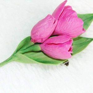 "Flower brooch ""Tulips"""