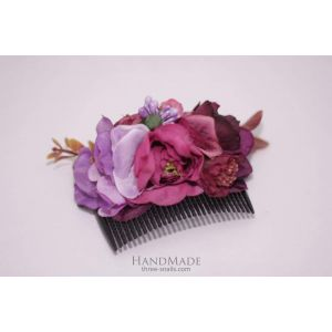 "Flower girl hair accessories. Hair comb ""Purple sunset"""