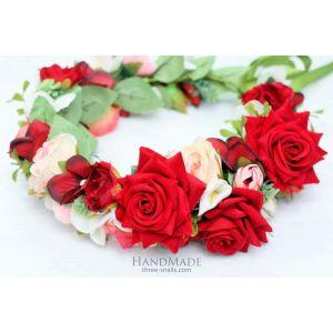 """Flower headbands """"Luxurious roses"""""""