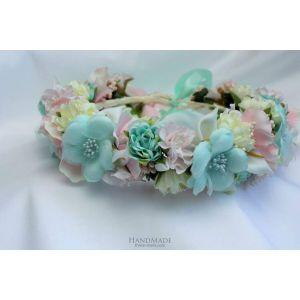 "Flower wreath for girls ""Mint story"""