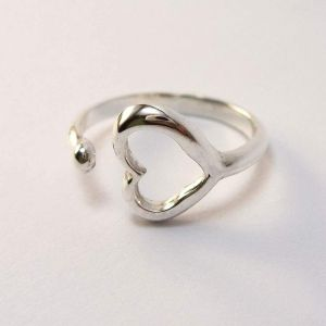 Gift for women. Open heart ring