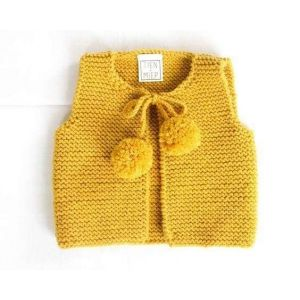 Girl knitted vest cardigan