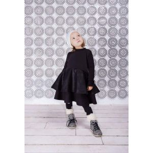 Girls cotton black dress
