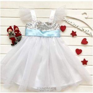 Girls white tulle dress