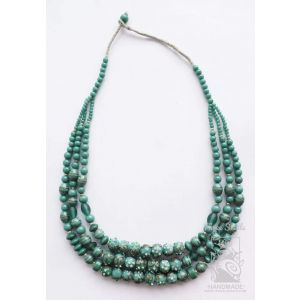 """Glass necklace """"Gentle Waves"""""""