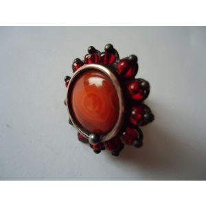 """Glass ring """"Magic flower"""""""