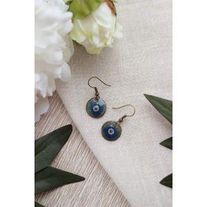 "Green earrings ""Illusion"""