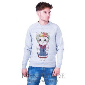Grey Man Sweatshirt «Kitten»