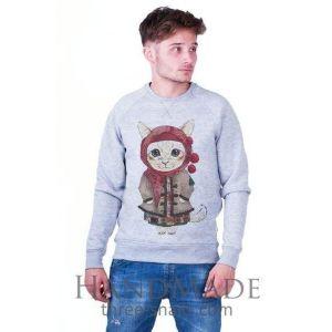 Grey Man Sweatshirt «She-kitty»