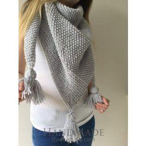 Grey triangular scarf