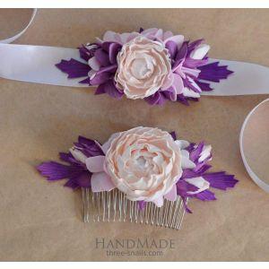 "Hair accessories for weddings set  ""Romantic mood"""