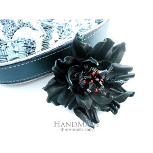 "Hair clips ""Black mountain"""