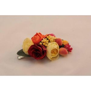 Hair flower accessories. Barrette «Peach»