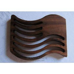 Handcrafted Carved Wood Trivet