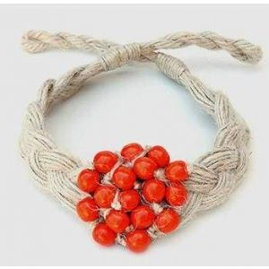 """Handcrafted Fashion Necklace """"Red Ashberry"""""""