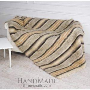 "Handcrafted wool blanket ""Way"""