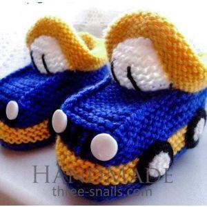 "Handmade babies shoes ""Car"""