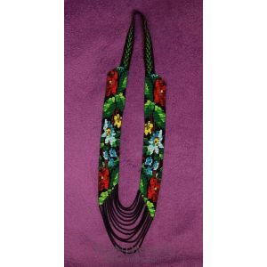 "Handmade beaded necklace (gerdan) ""Spring flowering"""