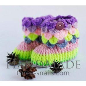 "Handmade bootees ""Rainbow"""