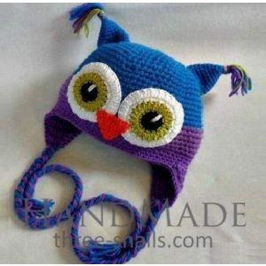 """Handmade children hat """"Owl"""""""