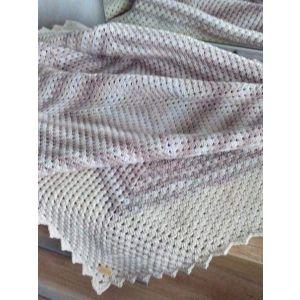 "Handmade Crochet Plaid ""Sea Side"""