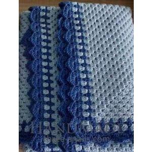 "Handmade Crochet Plaid ""Sea Wave"""